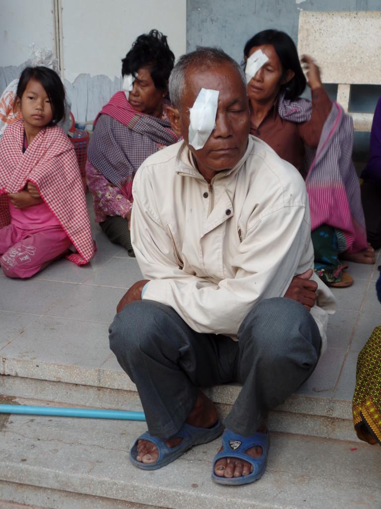 Kralanh Eye Patch Post Op Patient